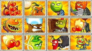 Plants vs Zombies 2 All Fire Plants vs Every Hard Zombies Every Plant Power UP Gameplay PVZ 2