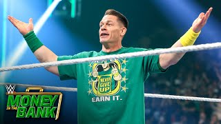 Cena makes shocking WWE Money in the Bank return WWE Money in the Bank 2021 WWE Network Exclusive
