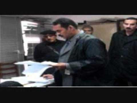 رد فعل الضباط اثناء مرافعة الاستاذ ياسر شرف المحامى عن اسر شهداء السويس