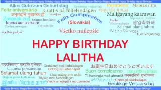 Lalitha   Languages Idiomas - Happy Birthday