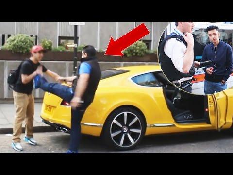 Cop Car Prank Arrested Spray Paint