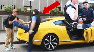 Spray Painting Prank On SUPERCARS (PRANK GONE WRONG)