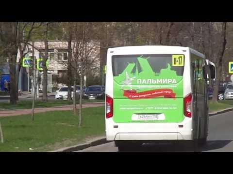 """Впервые на таком ПАЗ-е. Автобус Петербурга 9-334: ПАЗ-320435-04 """"Vector Next"""" по №К-17 (01.05.19)"""