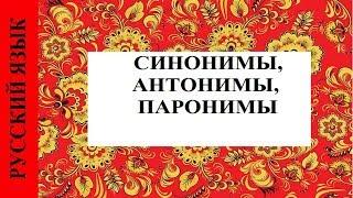 СИНОНИМЫ, АНТОНИМЫ, ПАРОНИМЫ
