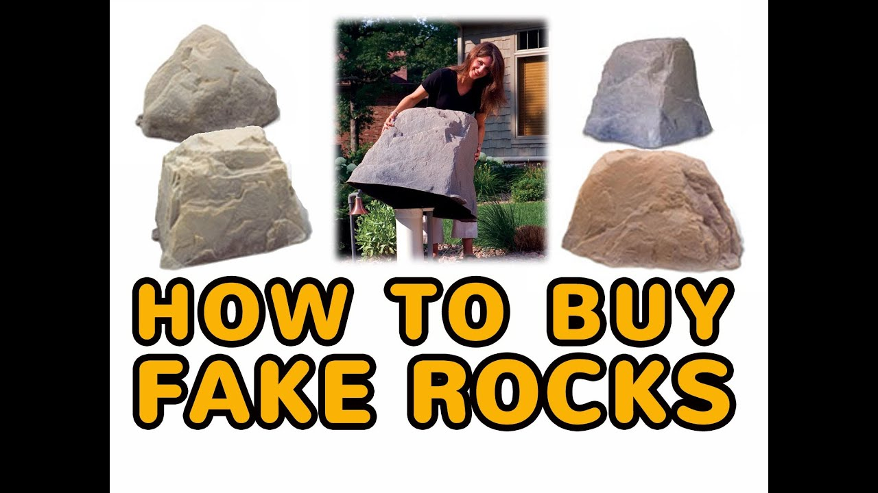 How To Buy Fake Rocks