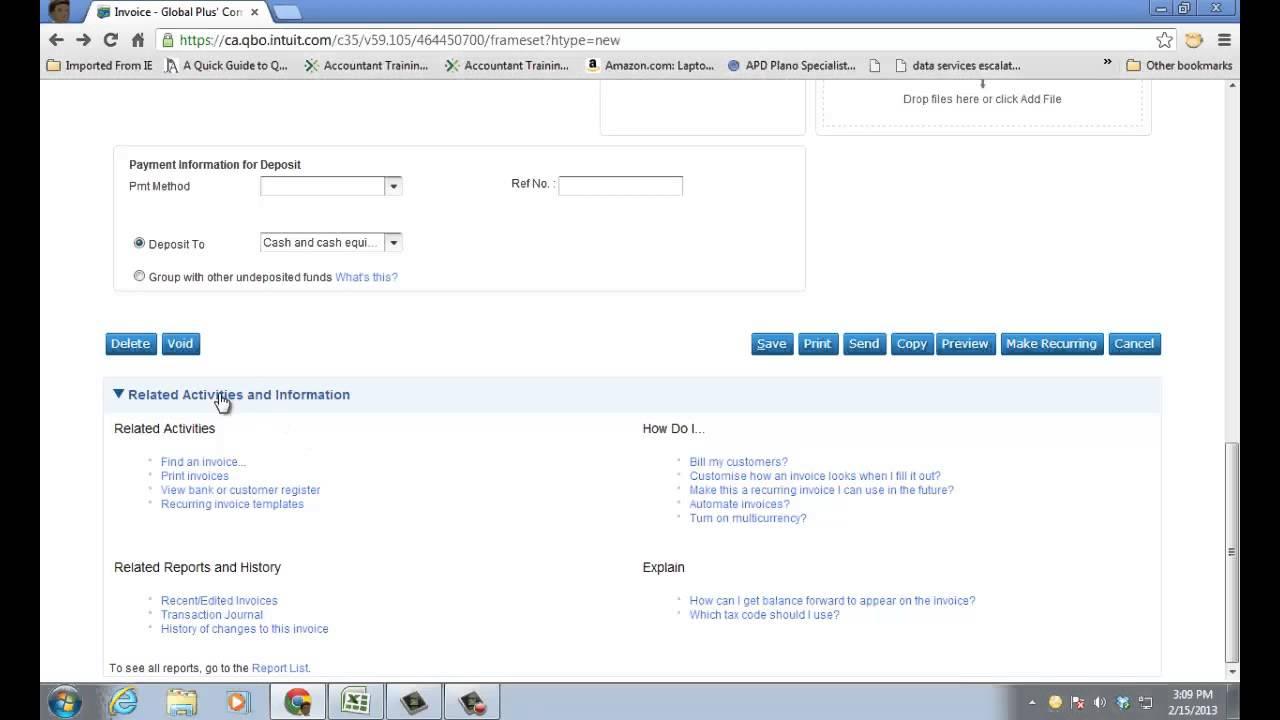 Applying Customer Deposit To Invoice In QBO YouTube - Quickbooks online invoice deposit