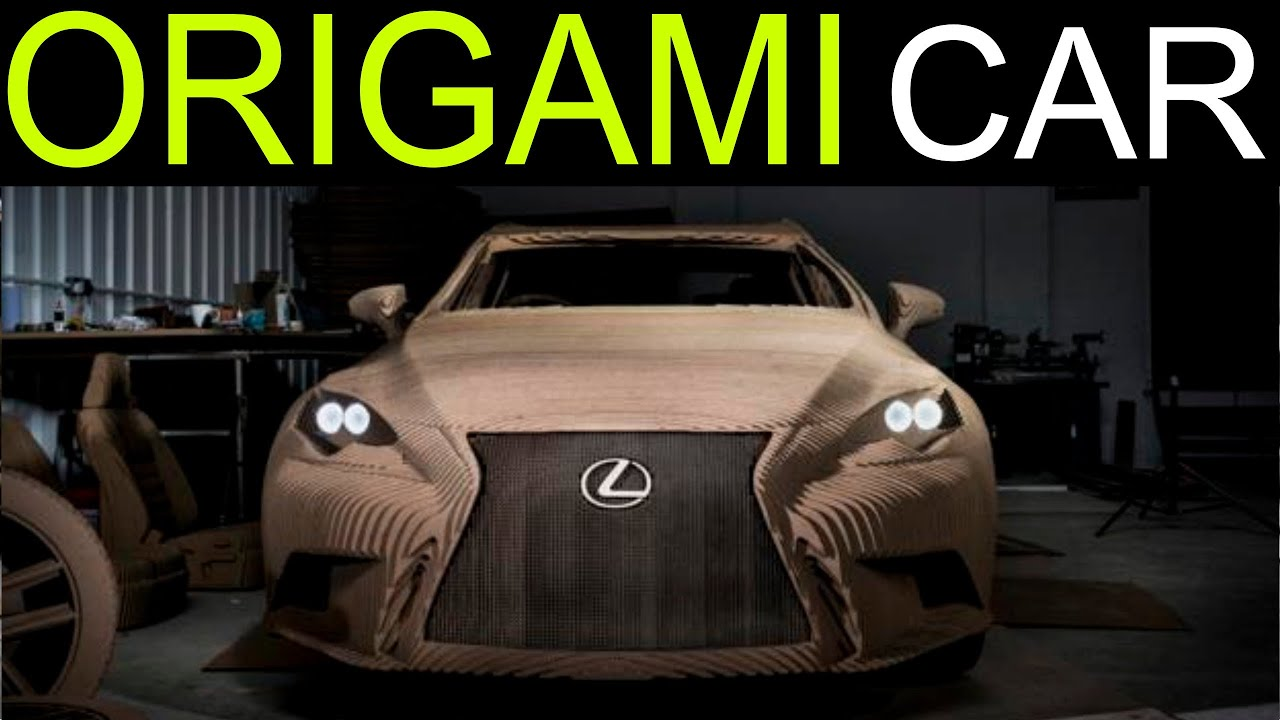 lexus unveils world 39 s first origami car made from cardboard lexus commercial parody youtube. Black Bedroom Furniture Sets. Home Design Ideas