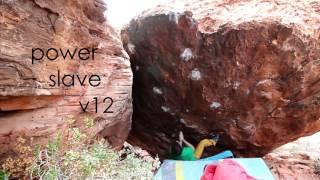 bouldering in red rocks - gabri moroni and alex khazanov