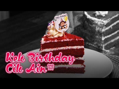 cik-ain-buat-kek-birthday-sendiri-je---kek-red-velvet
