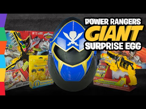 Power Rangers Toys Play-Doh Surprise Egg with Mighty Morphin Super Megaforce Dino Charge by ToyRap