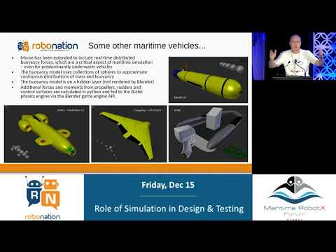 2017 Maritime RobotX Forum - Role of Simulation in Design & Testing