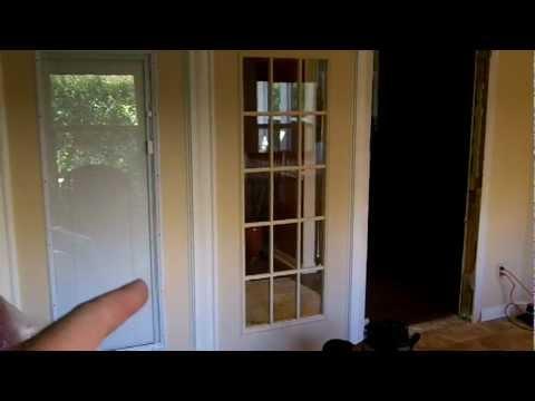 San Antonio Windows And Doors French Door Glass Swap Youtube