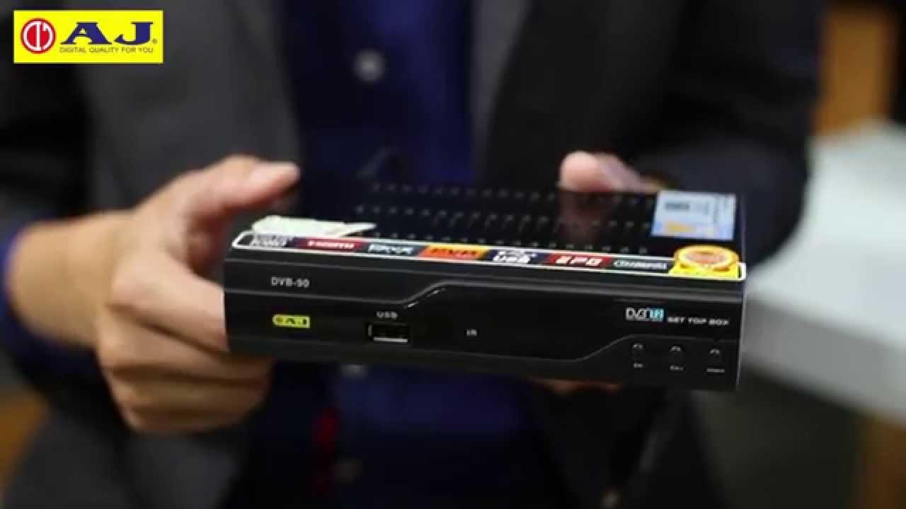 รีวิวกล่อง ดิจิตอลทีวี Aj Set Top Box Dvb 90 ราคา 1 490