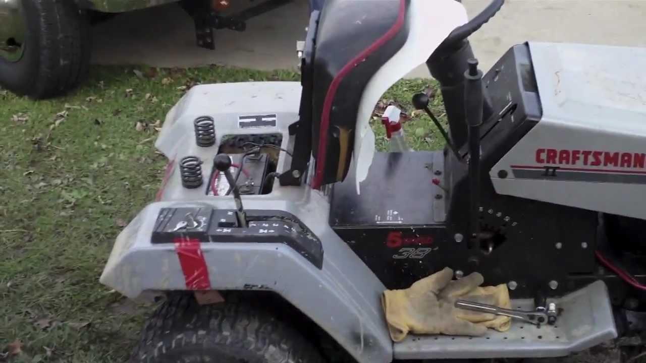 craftsman lt4000 riding mower youtube. Black Bedroom Furniture Sets. Home Design Ideas