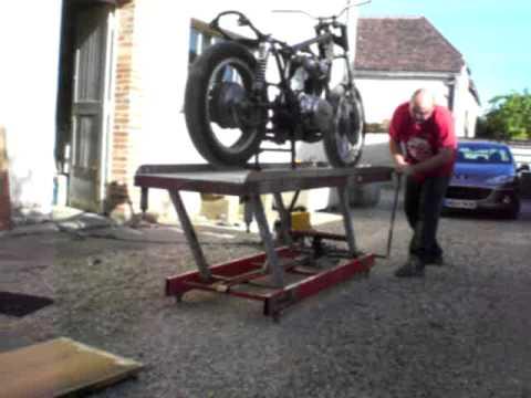 Table leve moto 4 youtube - Table leve moto hydraulique ...
