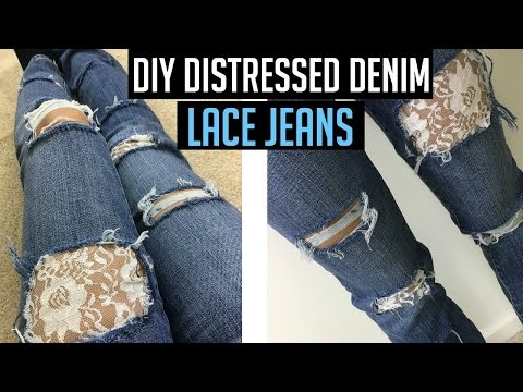 diy-distressed-jeans-tutorial-with-lace!