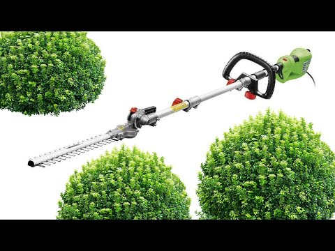Florabest Electric Long-Reach Hedge Trimmer FHL 900 F5 Unboxing Review