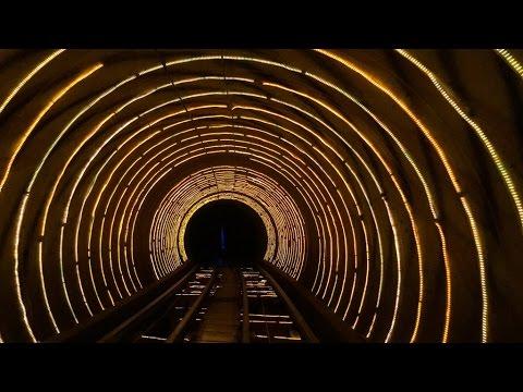 Bund Sightseeing Tunnel Huangpu to Pudong, Shanghai, China
