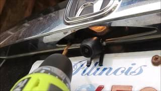 how to install wireless backup camera on honda cr v