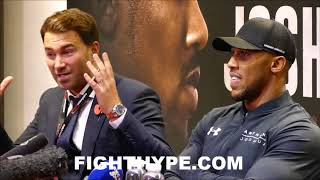 (FUNNY) ANTHONY JOSHUA BUSTS OUT LAUGHING AT EDDIE HEARN FOR SAYING HE LOST ONE ROUND