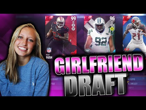 GIRLFRIEND DRAFTS MY TEAM! (8 Year Olds Talk Trash To Us) Madden 16 Draft Champions