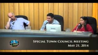 Special Town Council Meeting - May 21, 2014