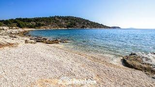 beach Koromašna, Jezera, island Murter, Croatia