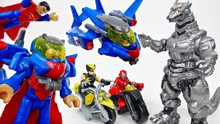 Defeat The Fierce Mecha Gozilla~! Superman With Battle Armor - ToyMart TV