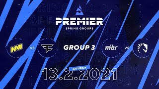 NAVI vs Faze, MIBR vs Team Liquid | BLAST Premier Spring Group 3 Day 2