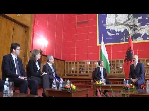 Kryeministri Edi Rama pret Presidentin e Bullgarisë Rosen Plevneliev