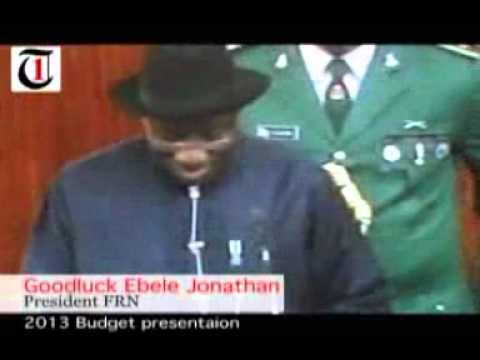 Budget presentation by President Goodluck Jonathan to the National Assembly