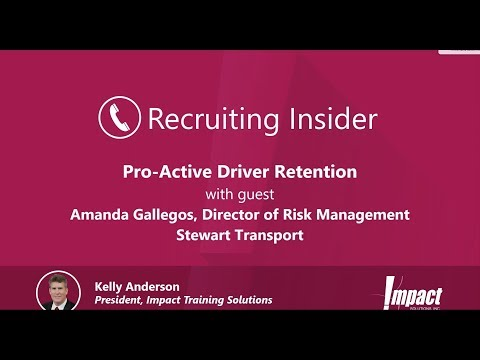 Recruiting Insider #18 - Proactive Driver Retention