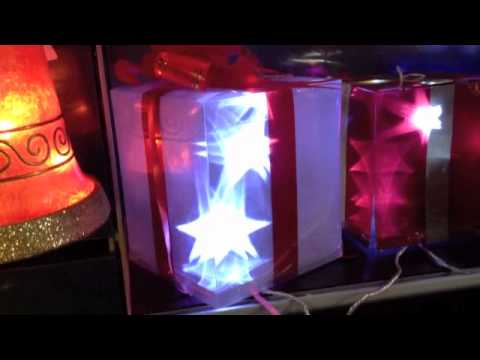 Cajas de regalo deco c luz 54 led youtube - Luz led casa ...