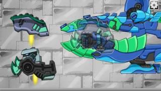 Мультик игра Роботы динозавры: Мозазавр Плезиозавр (Mosa Plesio Dino Robot)
