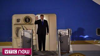 Chuyên cơ chở Tổng thống Mỹ Donald Trump hạ cánh xuống Nội Bài | Kim - Trum Summit
