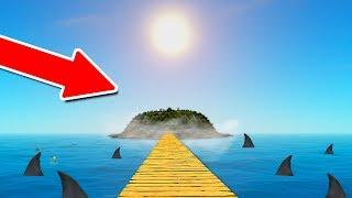 ACHEI UMA ILHA SECRETA ESCONDIDA NO MEIO DO OCEANO! (RAFT)