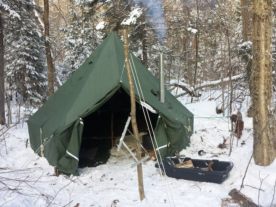 & HEX M-1950 5 MAN ARCTIC TENT  KNI-CO ALASKAN JR - YouTube