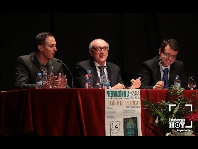 """VÍDEO: Algunos retazos de la presentación de """"La caricia de la serpiente"""", de Javier Gómez Molero"""