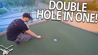 LUCKY DOUBLE HOLE IN ONE AT THIS FUN PIRATE THEMED MINI GOLF COURSE!   Brooks Holt
