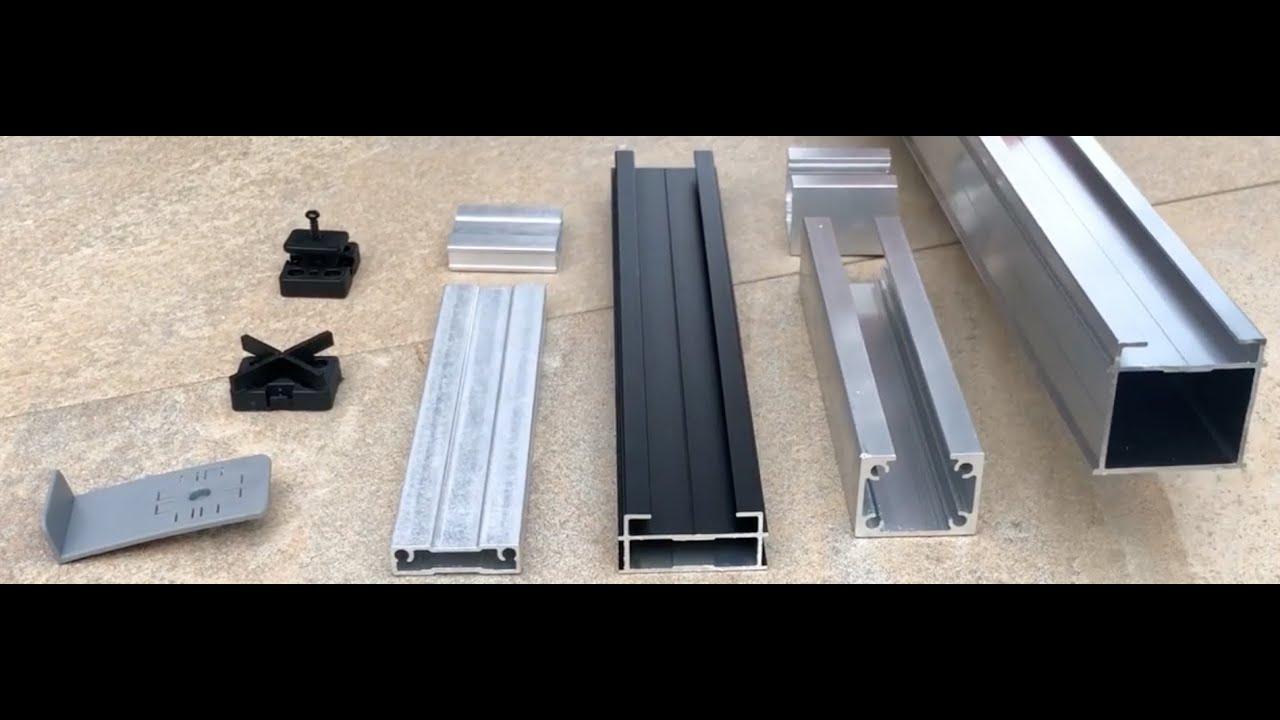 TRIAS Aluminium Unterkonstruktion für Terrassen Dielen oder Platten    Blauform GmbH