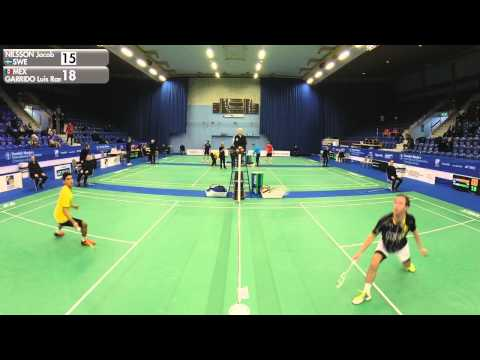 Badminton - Jacob Nilsson vs Luis Ramon Garrido (MS, Qualifier) - Swedish Masters 2016