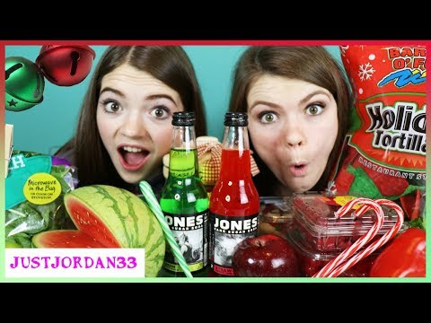 RED AND GREEN HOLIDAY SMOOTHIE CHALLENGE / JustJordan33