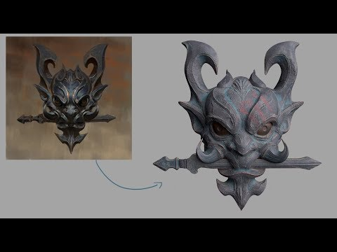Sculpting Japanese Mask (Zbrush and Substance painter)