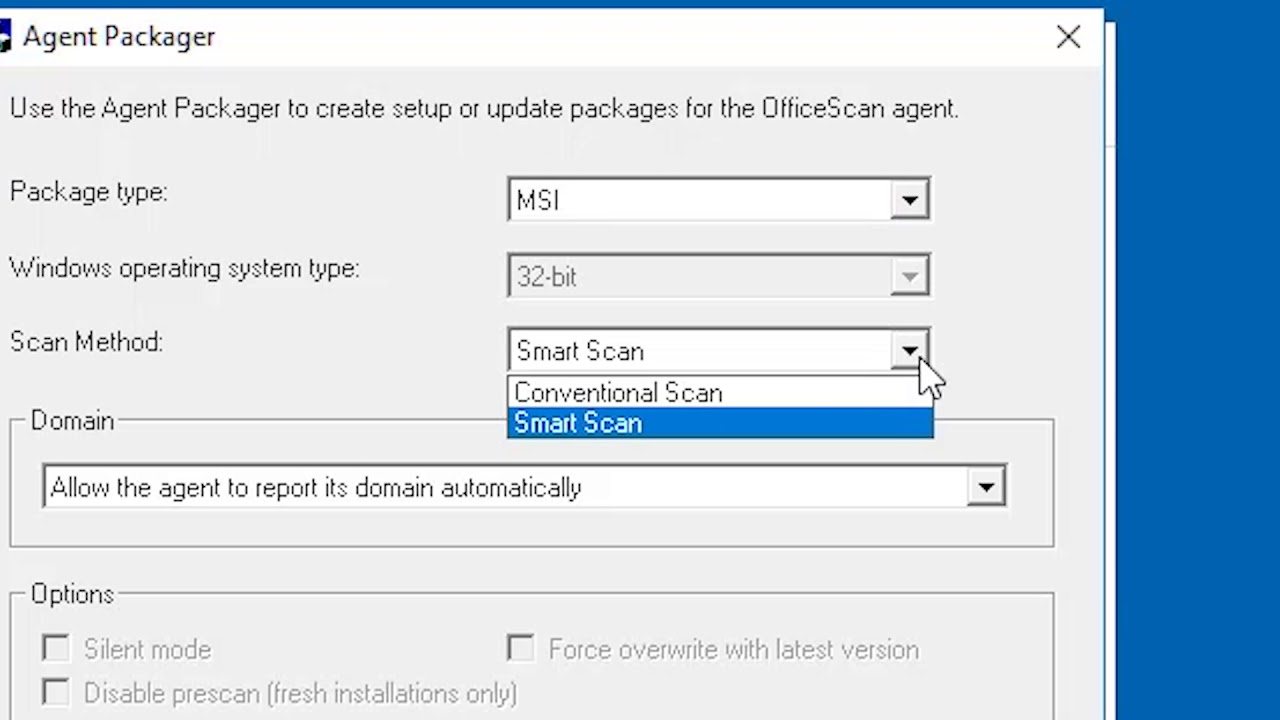 Installing client using Client Packager - OfficeScan