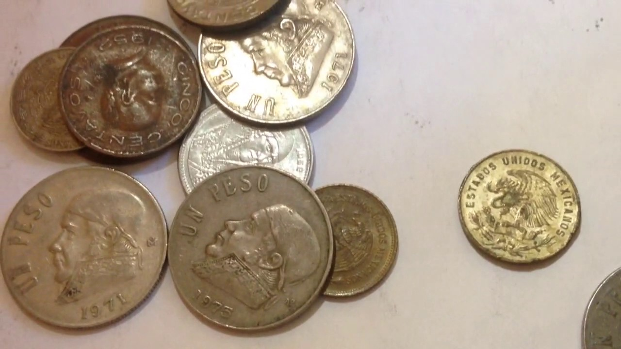Collection Of Mexico Pesos Coins