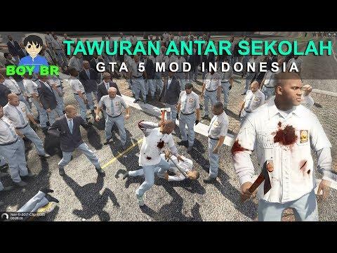 TAWURAN ANTAR SEKOLAH - GTA 5 MOD INDONESIA Mp3