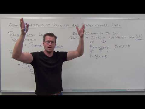 Finding Equations of Parallel and Perpendicular Lines (TTP Video 43)