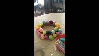 Easter Egg Wreath Diy/dollar Tree Diy/wall Decor Ideas