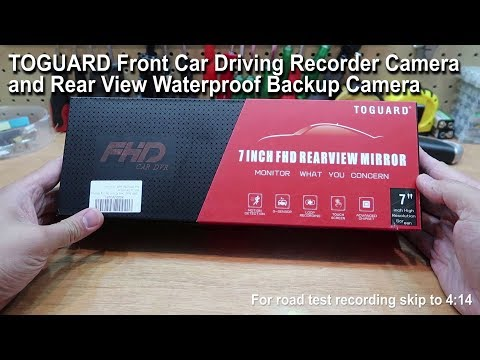 TOGUARD Mirror Dash Cam 1080P Dual Lens 7 Inch IPS Touch Screen