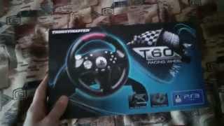 распаковка Thrustmaster T60 Racing Wheel PS3